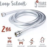 TATAY Loop Silver, Manguera de Ducha en PVC
