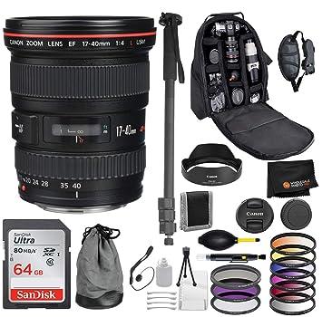 Amazon com : Canon EF 17-40mm f/4L USM Lens with