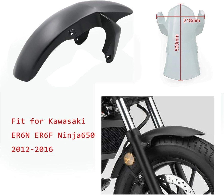 Color : Black is Painted SSXPNJALQ Accessoires Moto ABS Garde-Boue Avant Car/énage Garde-Boue Splash Fit for Kawasaki Ninja 650 ER 6F ER6F ER6F 2012-2016
