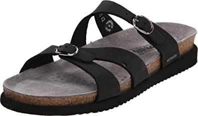 419e5b3d5c0 Mephisto Women s Hannel Sandals Black Nubuck 5 M US