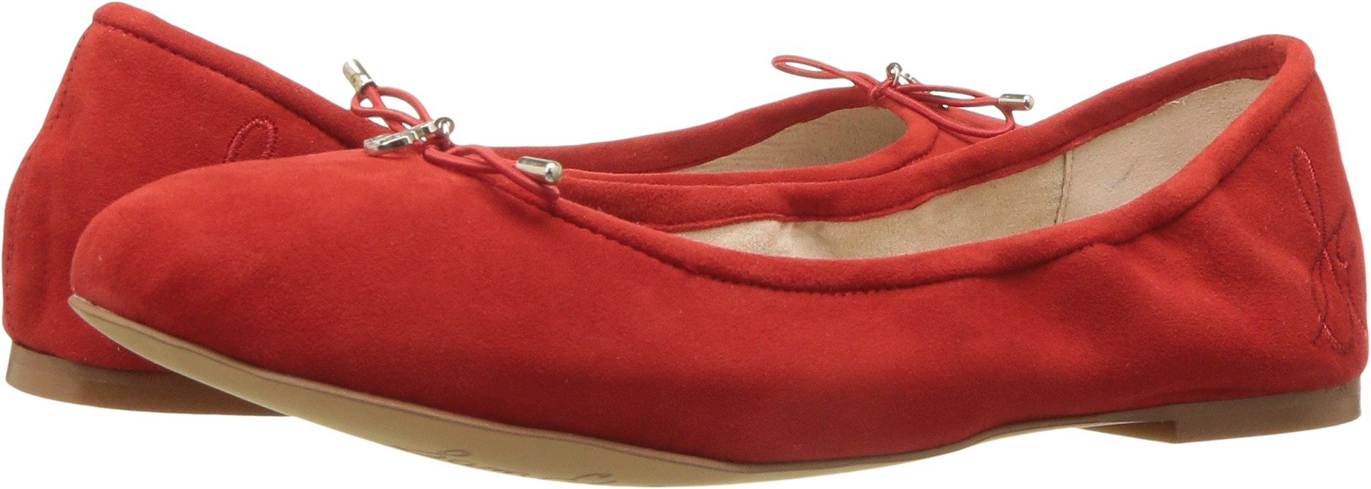 Sam Edelman Women's Felicia Candy Red Kid Suede Leather 12 M US by Sam Edelman