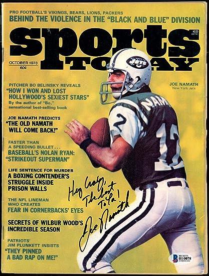 0d298098 Joe Namath Autographed Sports Today Magazine New York Jets