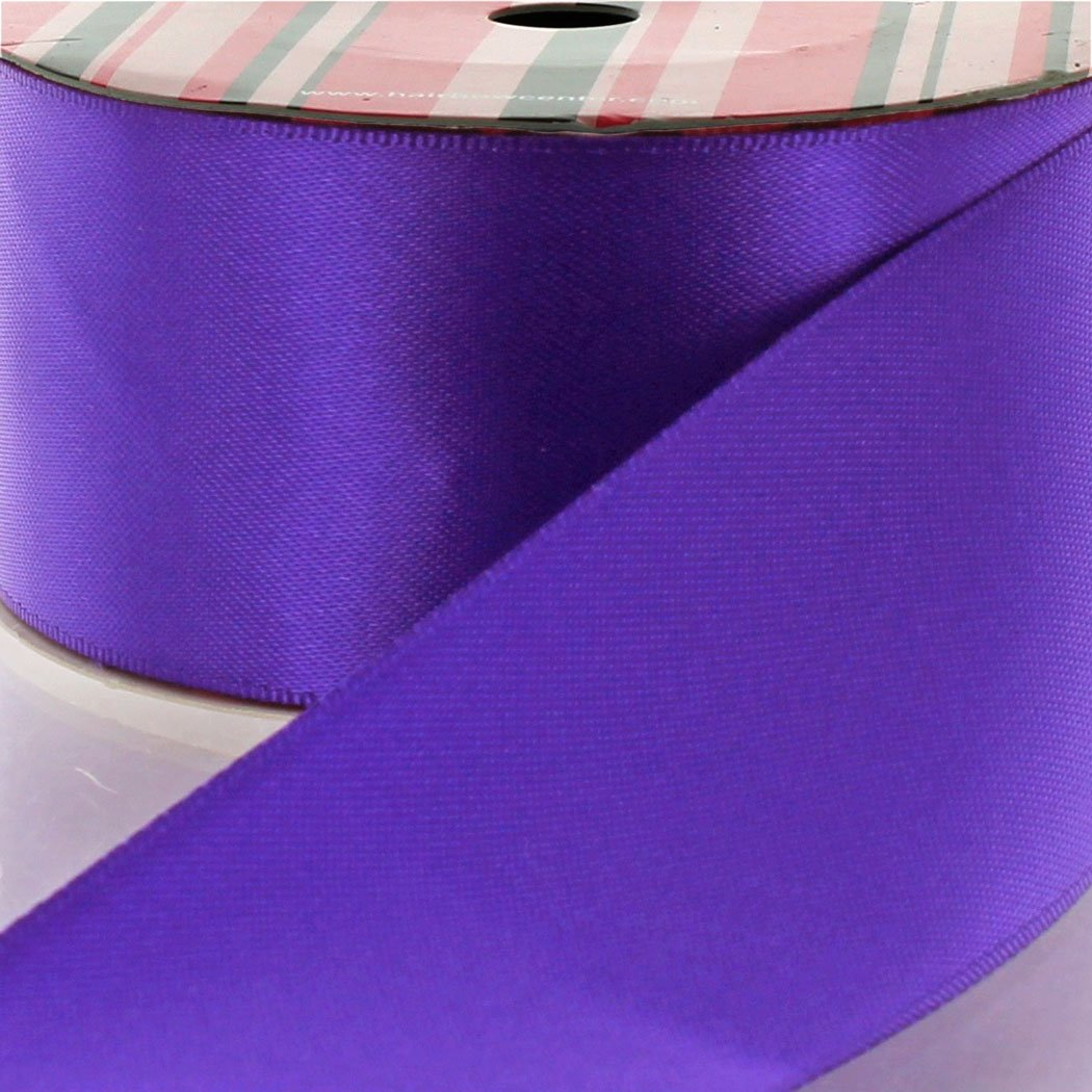 1.5'' Regal Purple Double Faced Satin Ribbon 100yd