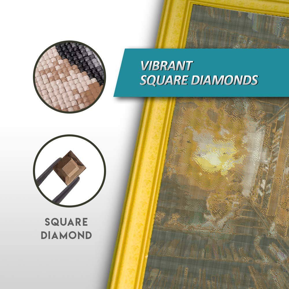 Diamond Painting Kits for Adults and Kids by Craftymint - Large Full Drill 5D Diamond Art - Relax and Paint with Diamonds - 32''x36'' Kit Includes All Tools and Accessories (Square, Dream Library) by Craftymint