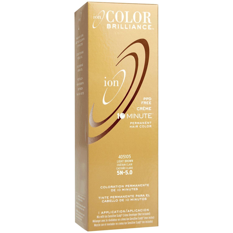 Amazon Com Ion 5n Light Brown Permanent Creme Hair Color 5n Light