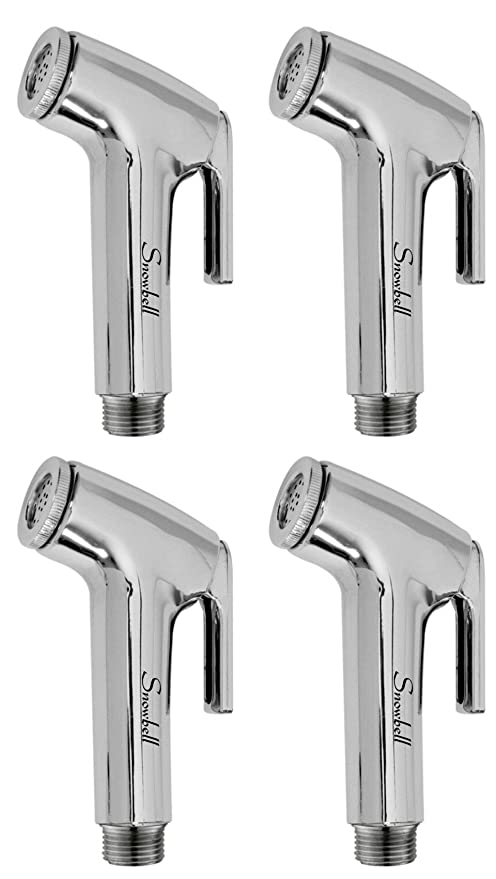 Snowbell Continental Health Faucet Head Chrome Plated - Set of 4