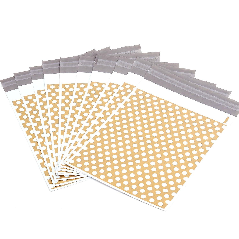 50/pcs 35,6/x 48,3/cm 355/mm x 485/mm dor/é /à pois Plastique autocollante r/ésistante affranchissement Sacs postaux