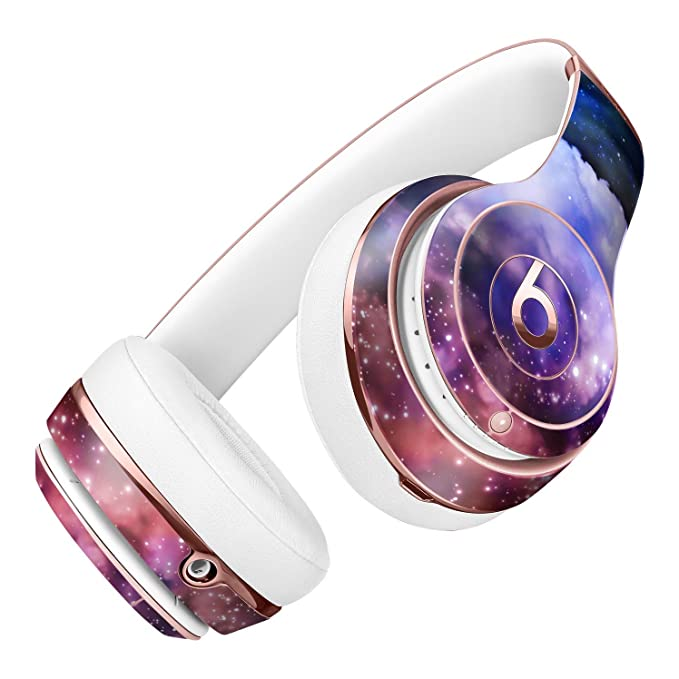 Purple Blue and Pink Cloud Galaxy DesignSkinz Full-Body Skin Kit for the  Beats by Dre Solo 2 Wireless Headphones / Ultra-Thin / Matte Finished /