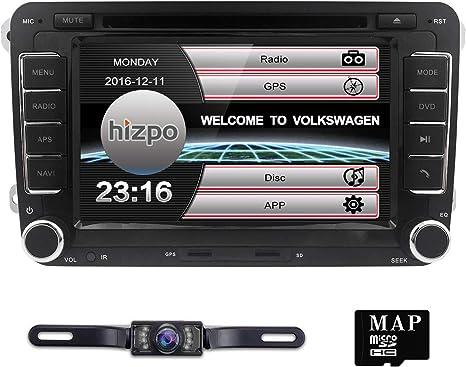 Hizpo Radio Estéreo de Coche para Volkswagen VW Golf Polo Passat ...