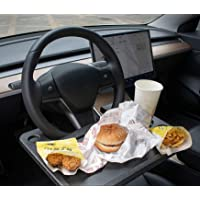Steering Wheel Tray Car Table For Food Laptop Car Tray with Cup Area Fits All Personal Cars