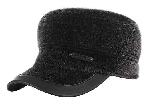 c4068fa2fb1 La Vogue Men s Winter Outdoor Thicken Warm Baseball Cap Hat with Earflaps  Grey