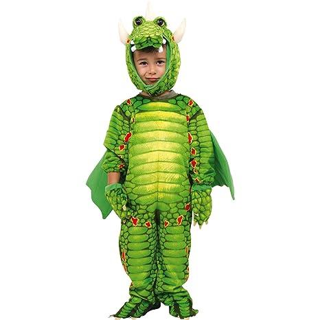 Costume Carnevale Drago per Bambini Draghetto Verde per Travestimento Festa 6af25448921