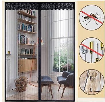 rabbitgoo Mosquitera Adhesiva Contrapuerta Mosquitera Magnética para Puerta Corredera Cortina Malla contra Insectos Mosquitos 110x220CM: Amazon.es: Bricolaje y herramientas