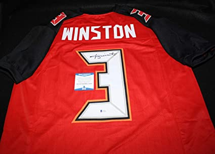 8aa157f2 Jameis Winston Autographed Signed Jersey Tampa Bay Buccaneers Fsu ...