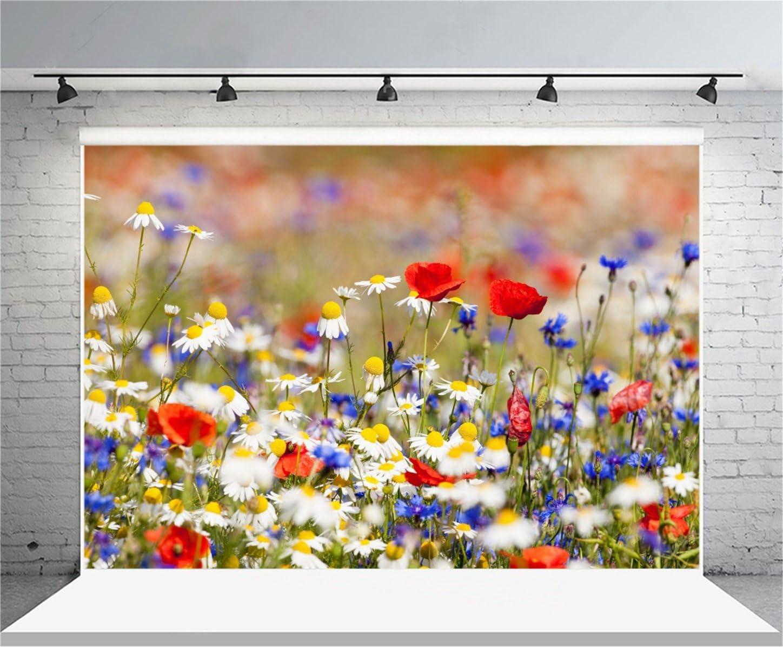 6x6FT Vinyl Photography Backdrop,Floral Nature Photoshoot Props Photo Background Studio Prop