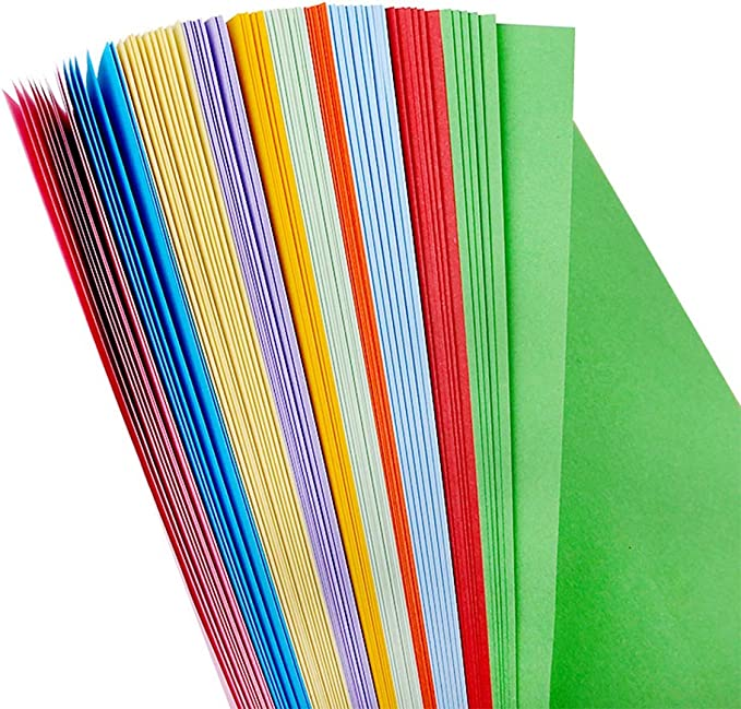 Color Copy Paper,100 Pcs 20 Colors Double Sided Lightweight A4 Kraft Paper DIY Handmade Card Making,Handmade Folding Paper Craft Origami for Office School Home Supplies