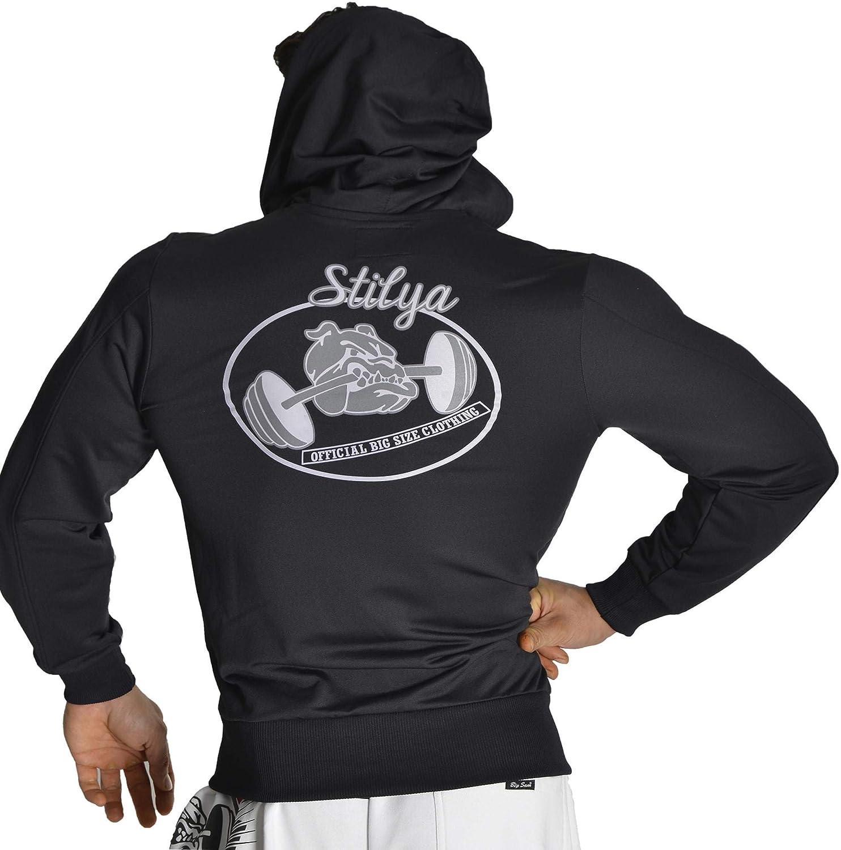 STILYA Sportswear Herren Trainingsjacke Sportjacke Jacke 6504 schwarz Schwarz