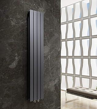Design Flach Heizkörper Badheizkörper 1800x304mm Antrazit Paneelheizkörper  Wohnraumheizkörper Plattenheizkörper Mittelanschluss Doppellagig 981Watt