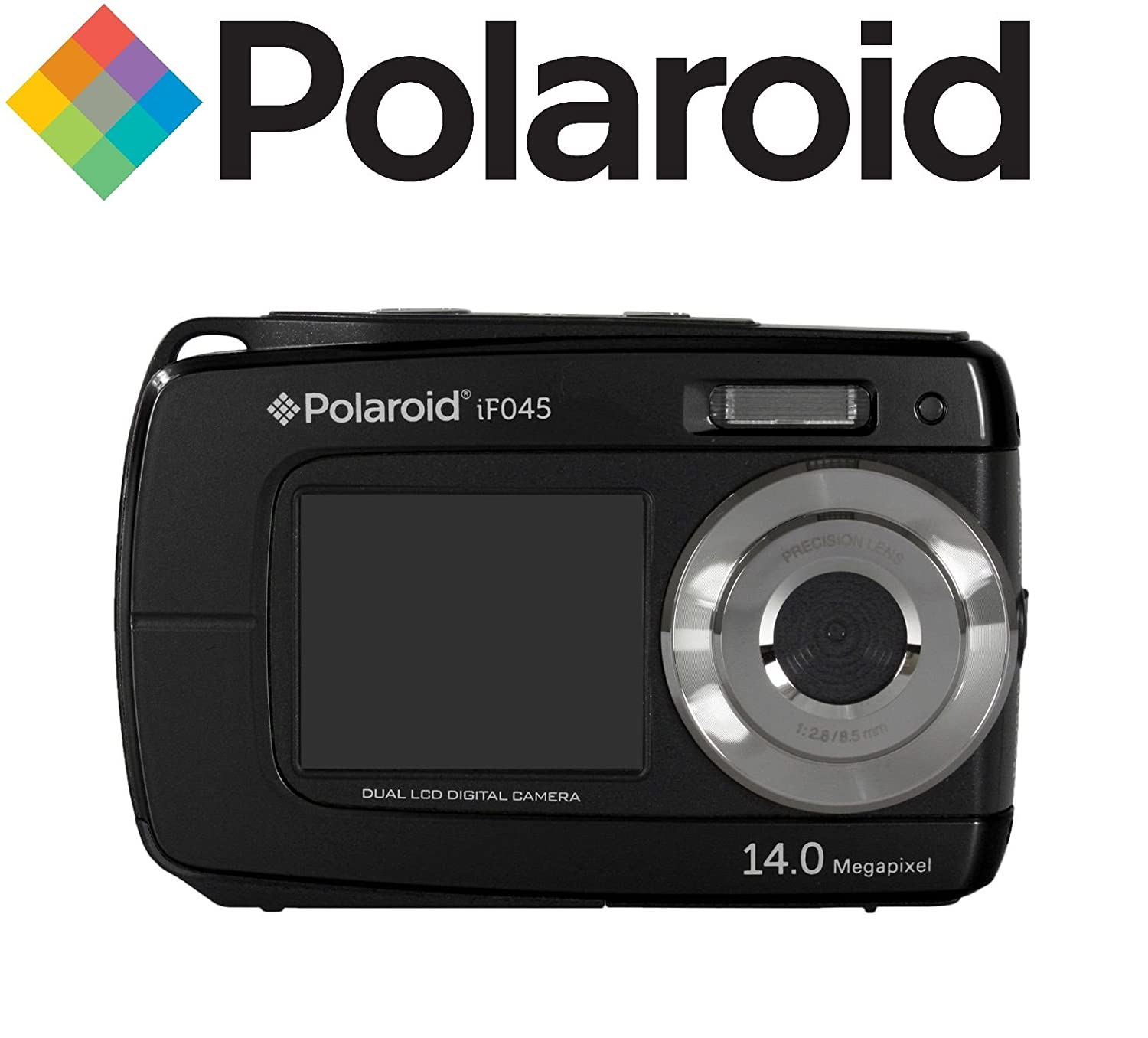 Amazon.com : Polaroid Dual Screen Waterproof Digital Camera with ...