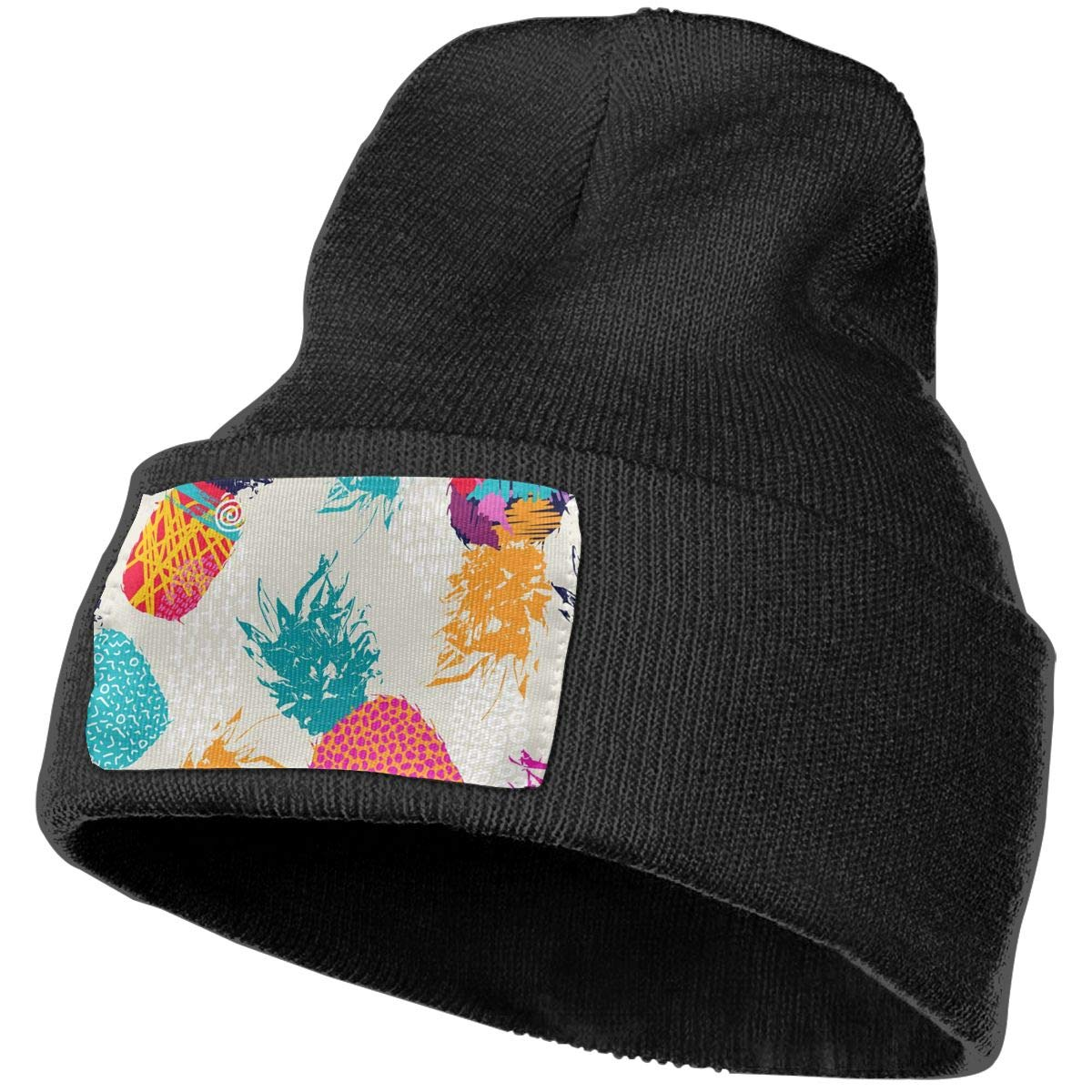ONHIM Tropical Fruit Watercolor Pineapple Kids Men /& Women Winter Warm Knitting Beanie Hat Slouchy Streetwear Hats
