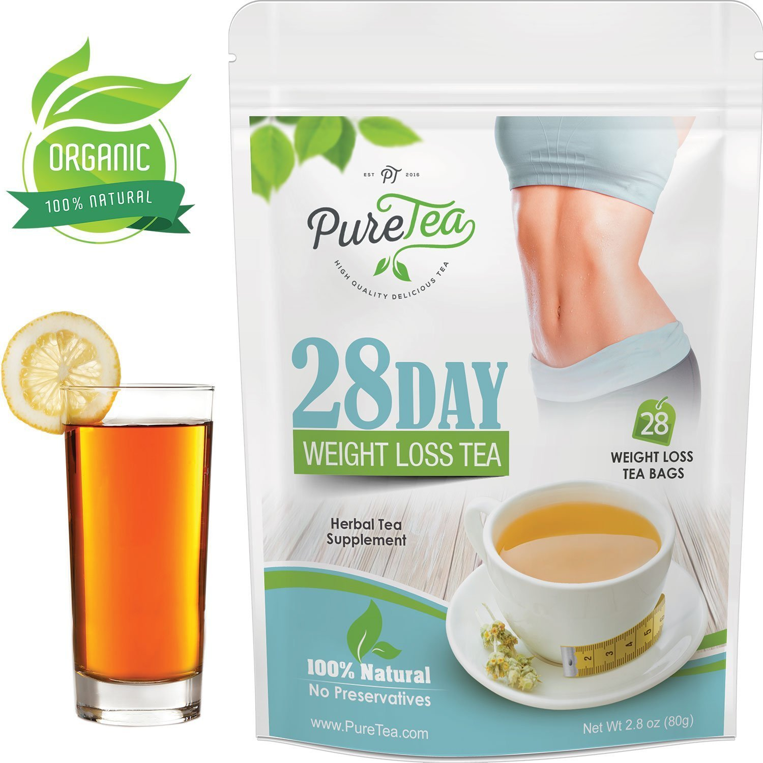 Amazon.com: PureTea Skinny Tea, Gentle Diet Detox Tea