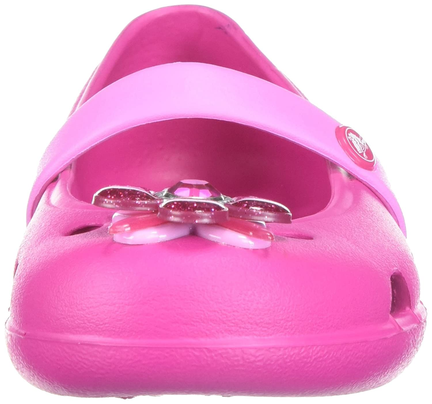 1aa04ef55f6891 crocs Girl s Keeley Springtime Flat PS Candy Pink Ballet C9 (205039)  Buy  Online at Low Prices in India - Amazon.in