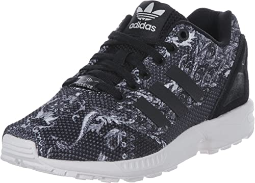 sneakers for cheap 076e1 b5b59 ZAPATILLA ADIDAS ZX FLUX W ESTAMPADA NEGRA CON TALONERA NEGRA (37 1 3)