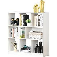 HOMCOM Estantería Librería con 8 Compartimentos Estantería de Exposición Libros Estilo Moderno para Sala de Estar…