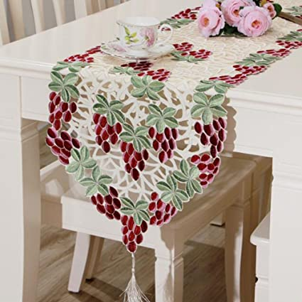 Elsie 15 x 70 cm bordado tapetes para la mesa, poliéster Table Linens para granja