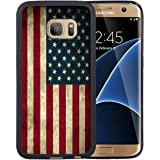 Samsung Galaxy S7 Case,American Flag Samsung Galaxy S7 Case Black Cover