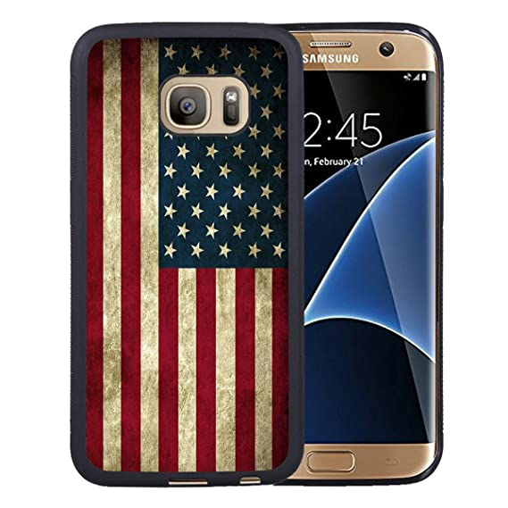 sale retailer d16b6 27728 Samsung Galaxy S7 Case,American Flag Samsung Galaxy S7 Case Black Cover