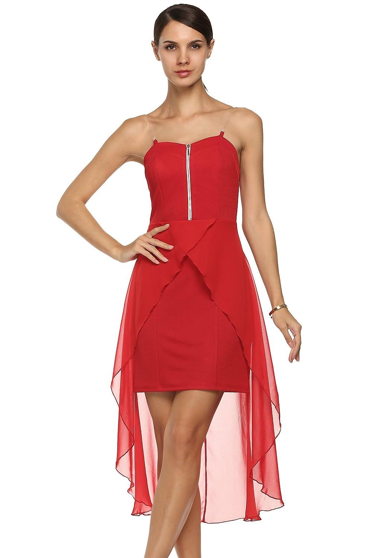 CRAVOG Sexy Damen Partykleid Abendkleid Cocktailkleid Minikleid Sommerkleid