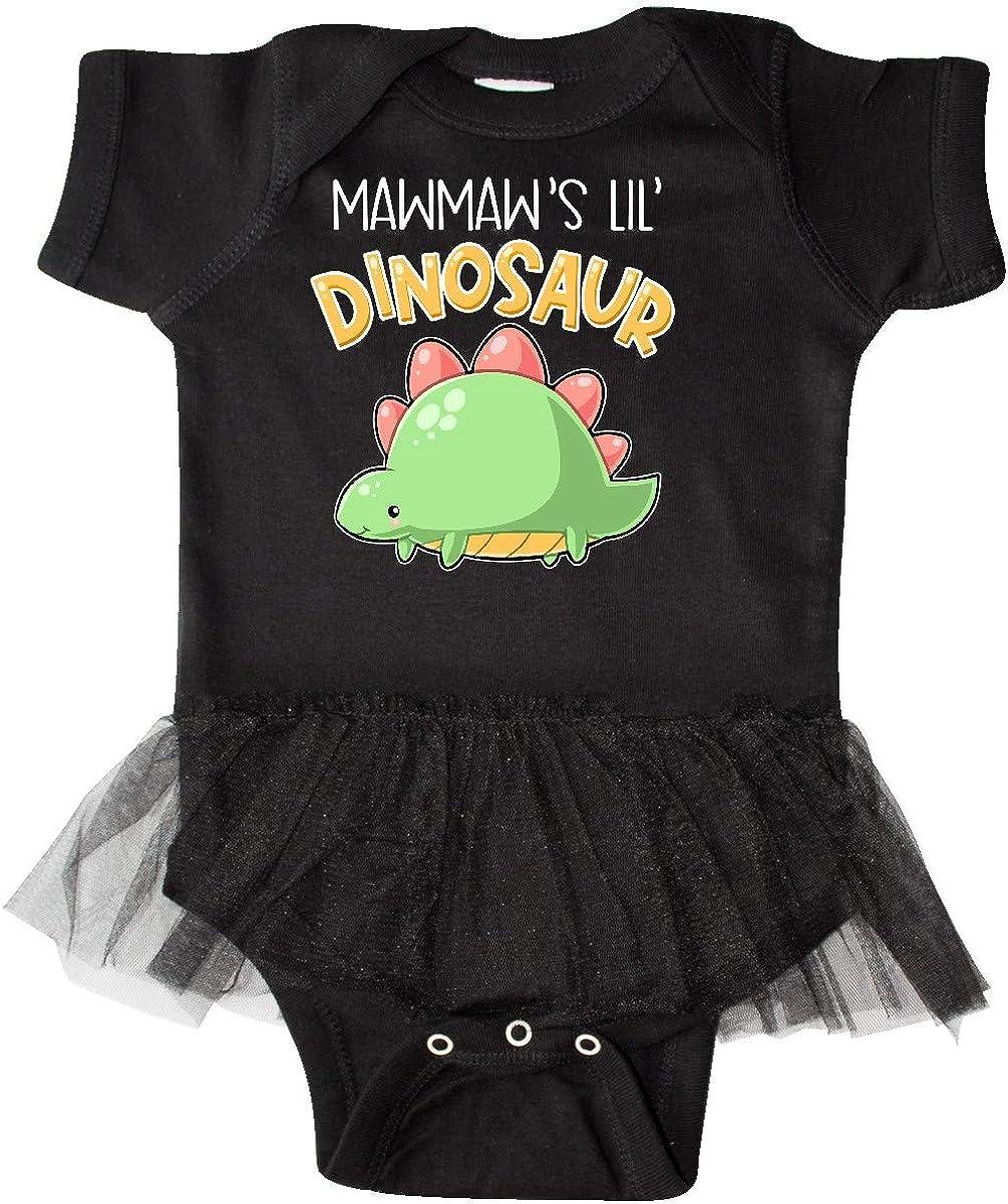 inktastic Mawmaws Lil Dinosaur with Cute Stegosaurus Infant Tutu Bodysuit
