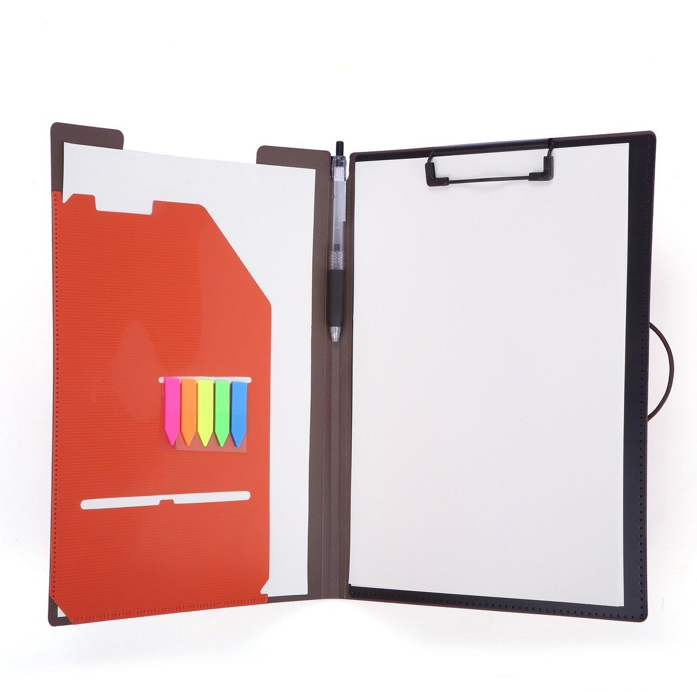 Padfolio Clipboard Folder File Portfoilio for Conference Document 8.5 x 11 Writing Pad Oragnizer Office