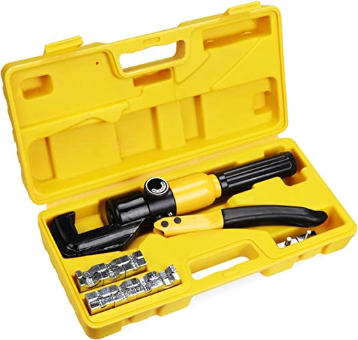 Hydraulic Wire Crimping Tool with 9 pairs of chrome-plated steel crimping dies