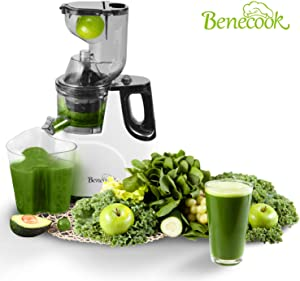 Benecook Slow Masticating Juicer, BPA Free Juice Extractor, Easy to Clean