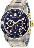 Invicta Men's Pro Diver Scuba 48mm Two Tone Stainless Steel Chronograph Quartz Watch, TT/Blue (Model: 0076)