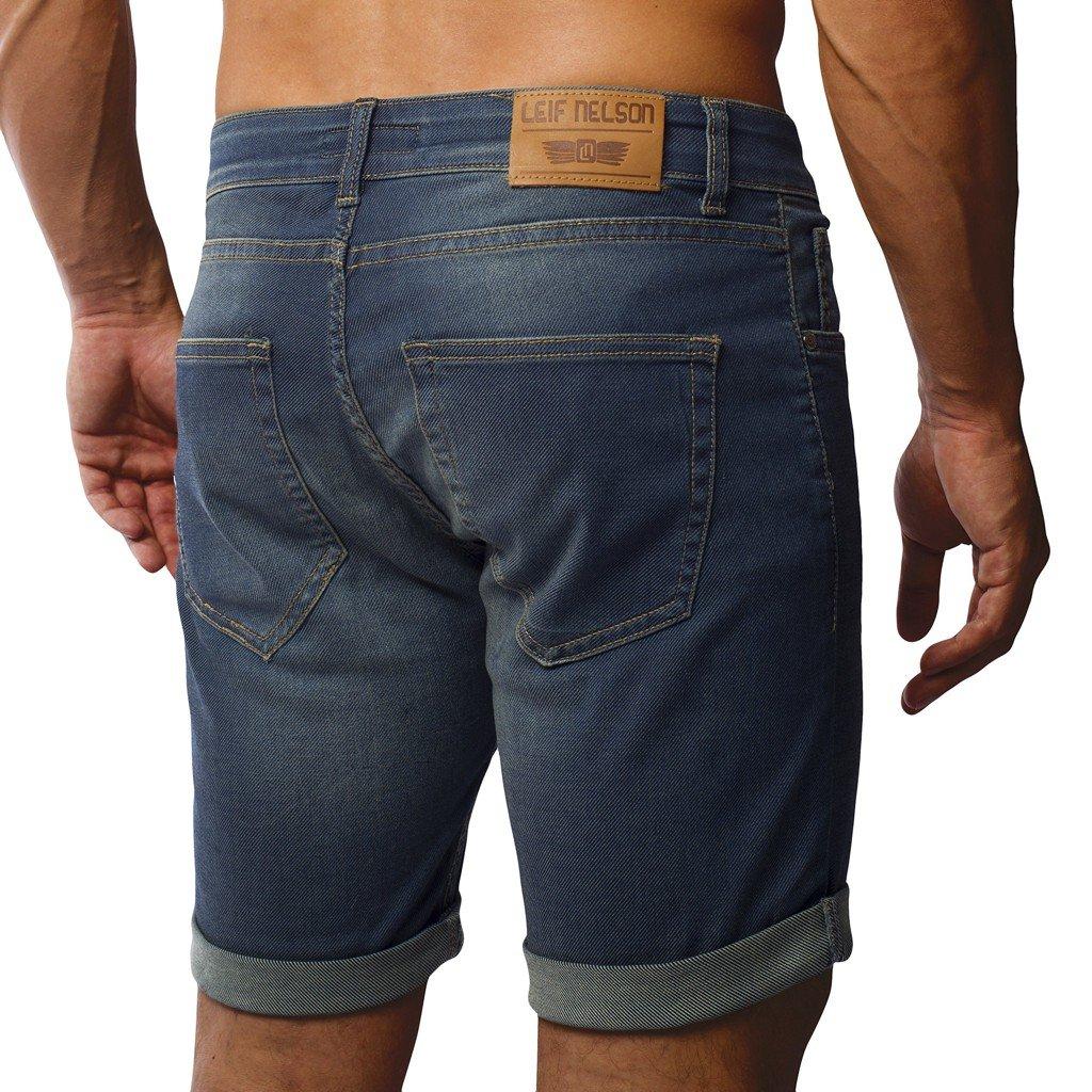 LEIF NELSON Herren Jeans Shorts LN1397