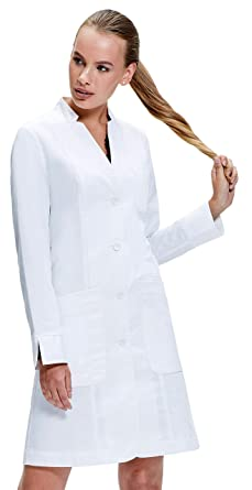 83faf03e02e7df Dr. James Tailored Women's Fitted Lab Coat with Fold Back Cuff (35 inch  Length