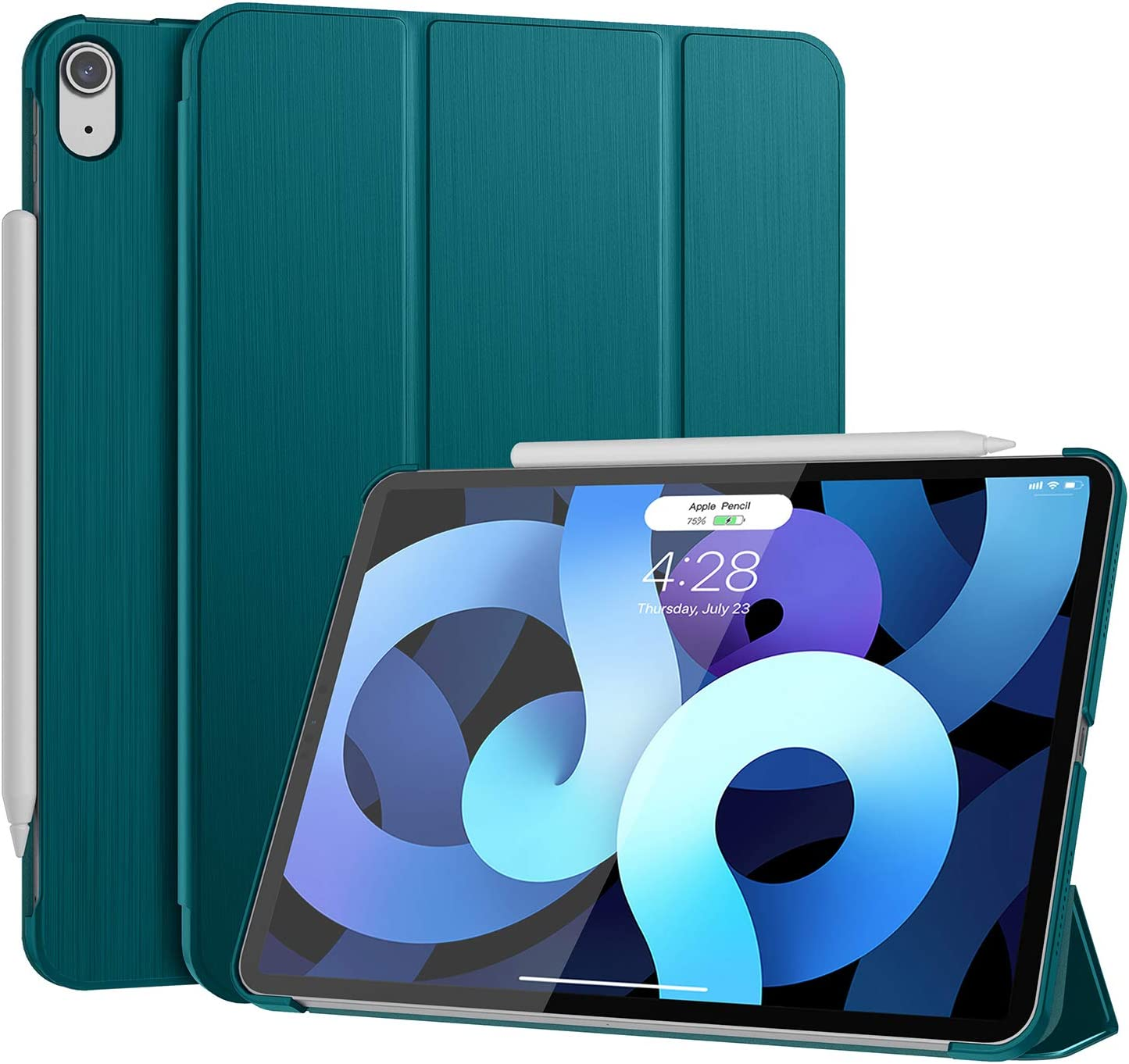 Soke New iPad Air 4 Case 2020, iPad Air 4th Generation Case 10.9 Inch - [Full Body Protection][Trifold Stand Lightweight Case] [Auto Sleep/Wake Cover] [Convenient Magnetic Attachment], Teal