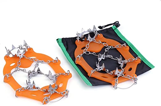 OUTAD 18 Teeth Stainless Steel Crampons