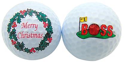 Merry Christmas Boss.Amazon Com Merry Christmas Boss Golf Ball Boxed Gift Set