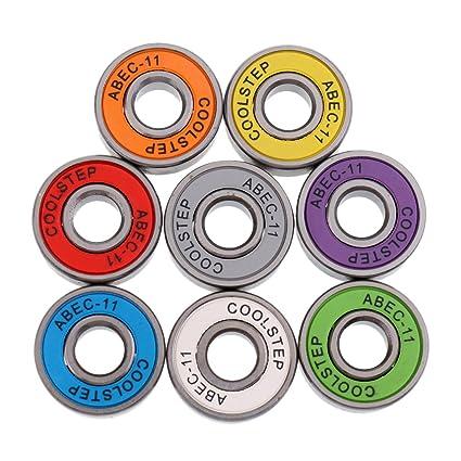 Sharplace 8 Pcs de Cojinete de Patin Rueda Accesorio Deportivo para Deportista Multicolor