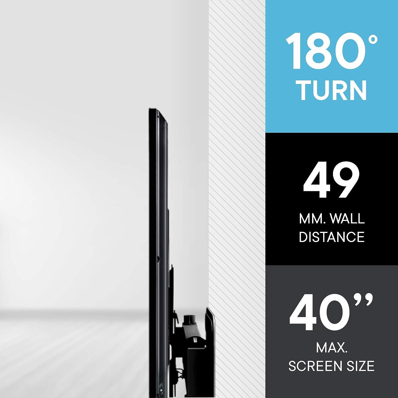 "One For All WM2251 - Soporte de pared para TV de 13 a 40"", giratorio 180°, peso máx. 30kg, para todo tipo de TVs (LED, LCD y plasma), negro: Amazon.es: Electrónica"