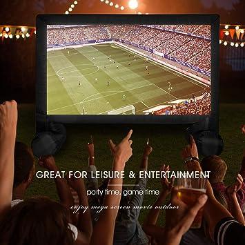Amazon.com: U-MAX pantalla de película inflable de 14 pies ...