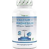 Calcium 800 mg + Magnesium 400 mg (2 tabletten) - 365 tabletten - 6 maanden voorraad - Calcium + Magnesium complex in 2…