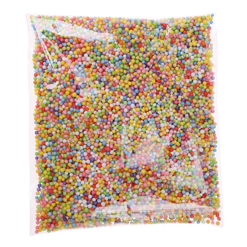 Vwh Palline di Polistirolo, Sfere Colorate in Polistirene, per Imbottitura, Decorazione, da Usare per Slime/Foam Slime o Come Perline per Artigianato e Fai-da-te, Multicolore Yingwei