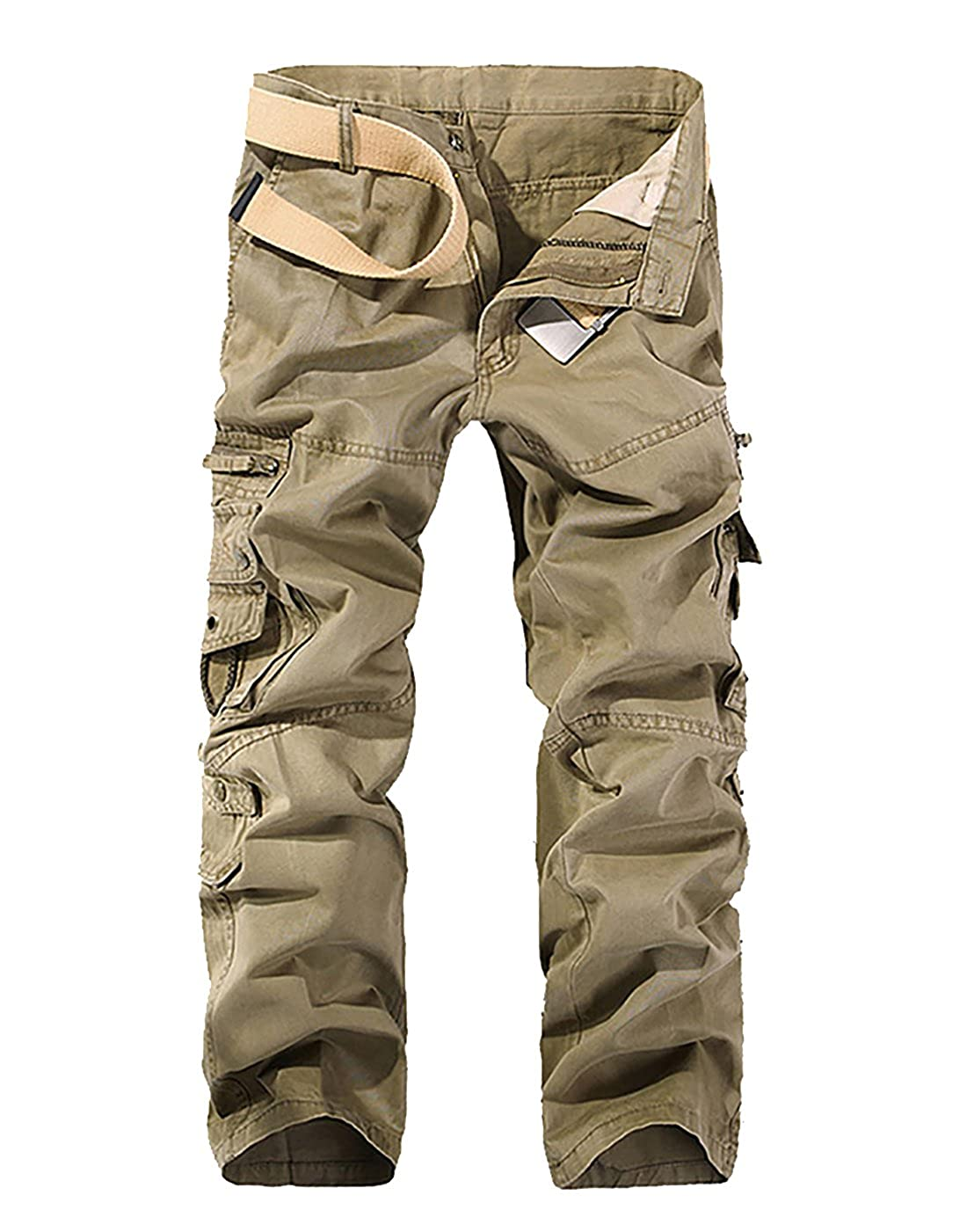 986721d3feeb4 Sits at waist / loose fit / straight leg.Zip fly and button closure,  regular fit, straight leg, NO belt.