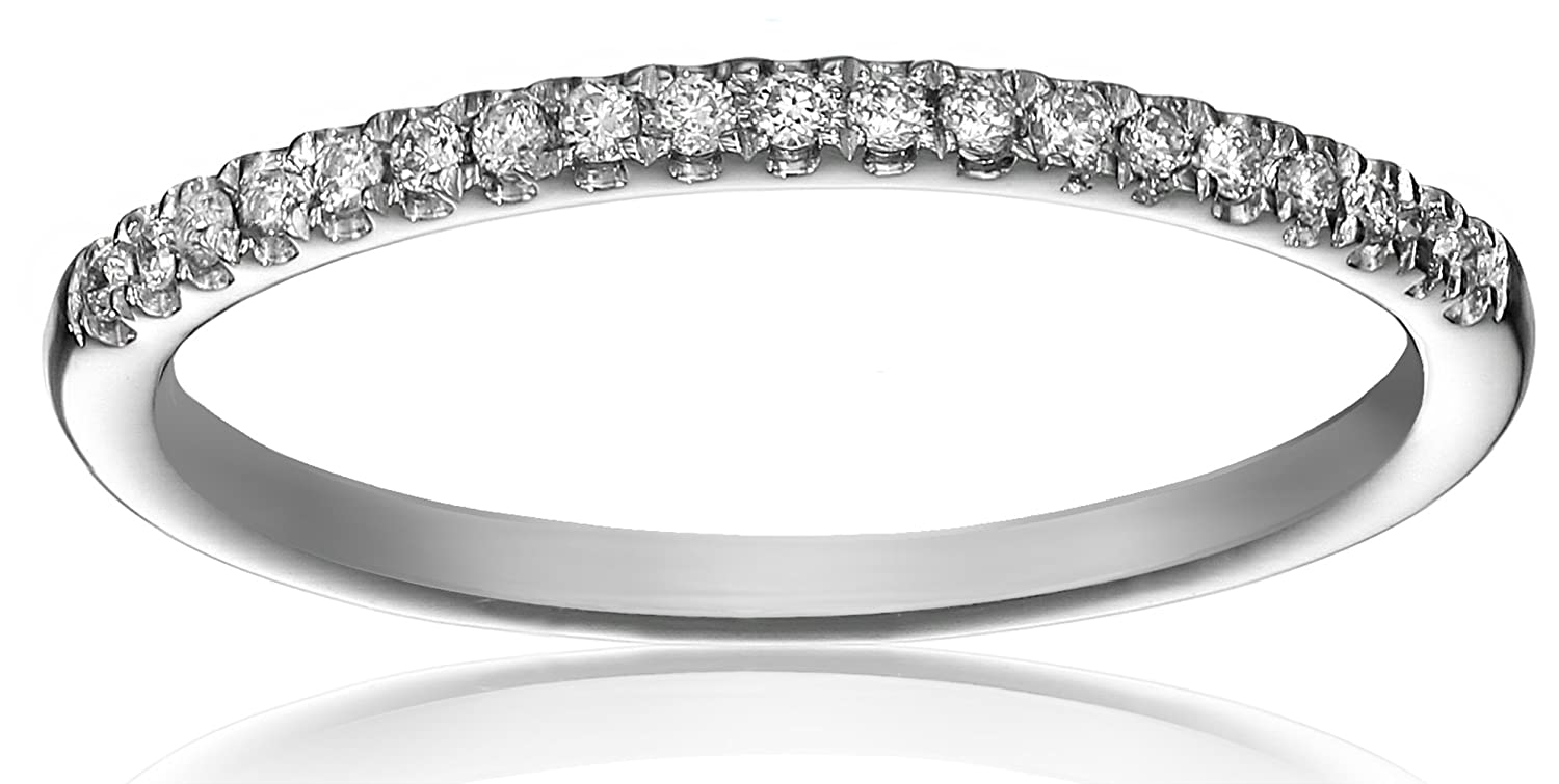 10k Gold 19-Stone Round Diamond Anniversary Band (1/10 cttw, IJ Color, I2 Clarity) 4211720100-Parent