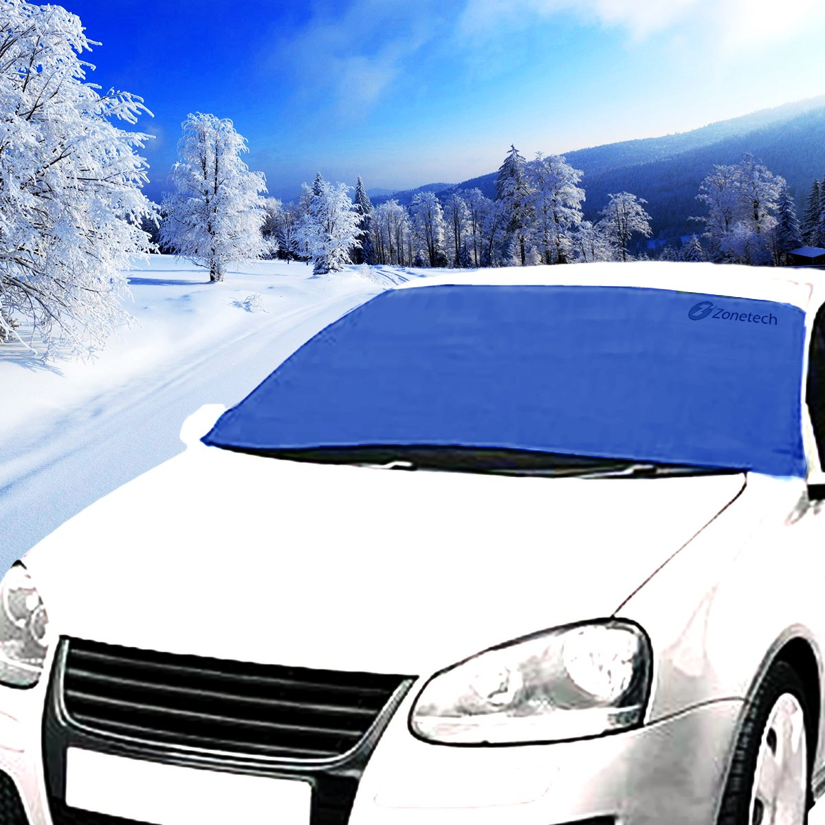zone tech winter car windshield snow cover summer sun protector shade shield ebay. Black Bedroom Furniture Sets. Home Design Ideas